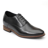 Hosso Black leather smart  with natural sole