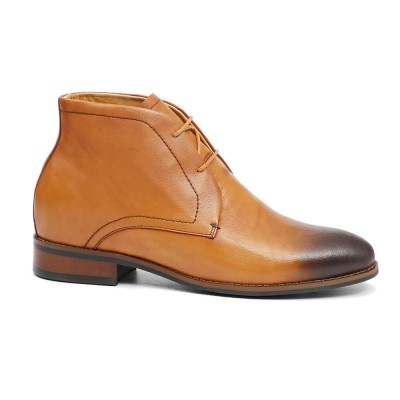 Premium leather Brown Derby Boots