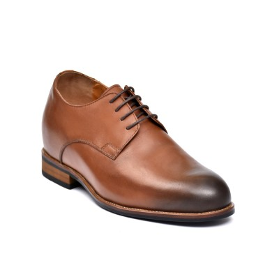 Classic premium leather brown elevator shoes
