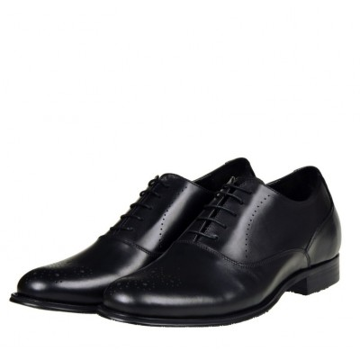 Hosso London Prestige Black leather brogues 8cm Taller