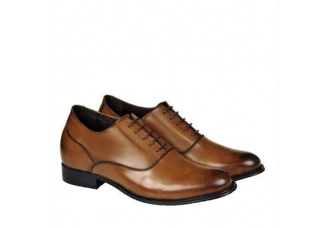 Prestige leather elevator shoes 8cm Taller